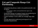 list and composite range list partitioning