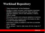 workload repository