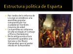 estructura politica de esparta