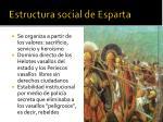 estructura social de esparta