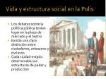 vida y estructura social en la polis