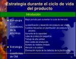 estrategia durante el ciclo de vida del producto1