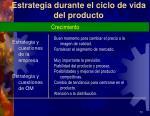 estrategia durante el ciclo de vida del producto2