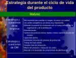 estrategia durante el ciclo de vida del producto3