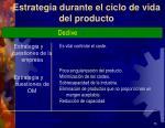 estrategia durante el ciclo de vida del producto4