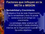 factores que influyen en la meta o mision2