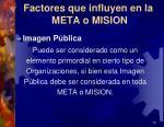 factores que influyen en la meta o mision3
