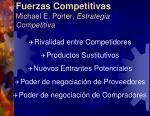 fuerzas competitivas michael e porter estrategia competitiva
