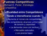 fuerzas competitivas michael e porter estrategia competitiva1