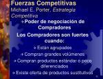 fuerzas competitivas michael e porter estrategia competitiva11