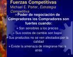 fuerzas competitivas michael e porter estrategia competitiva12