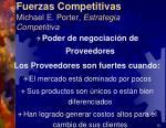 fuerzas competitivas michael e porter estrategia competitiva9