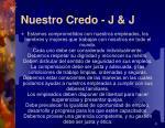 nuestro credo j j1