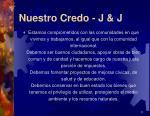 nuestro credo j j2