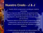 nuestro credo j j3
