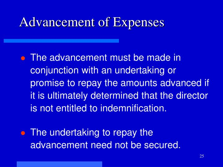 Advancement of Expenses