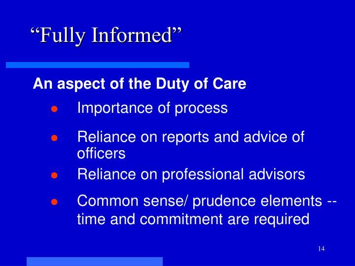 """""""Fully Informed"""""""