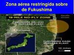zona a rea restringida sobre de fukushima