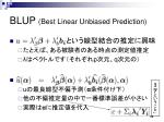 blup best linear unbiased prediction