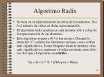algoritmo radix