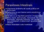 parasitoses intestinais