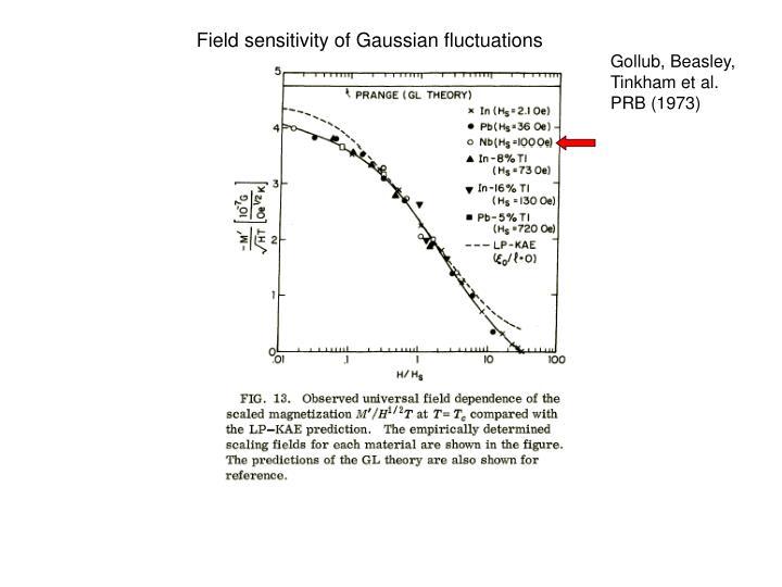 Field sensitivity of Gaussian fluctuations