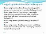 penggolongan basis berdasarkan komposisi