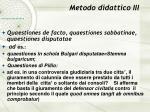 metodo didattico iii