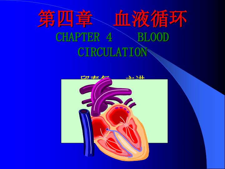 chapter 4 blood circulation n.