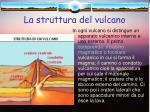 la struttura del vulcano