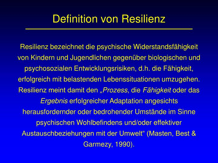 Definition von Resilienz