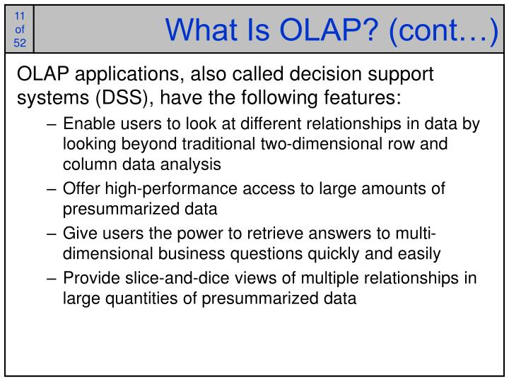 What Is OLAP? (cont…)