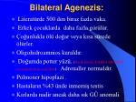 bilateral agenezis
