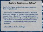 business resilience defined