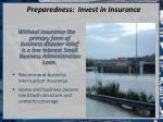 preparedness invest in insurance