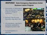 response state emergency operations center business liaison program