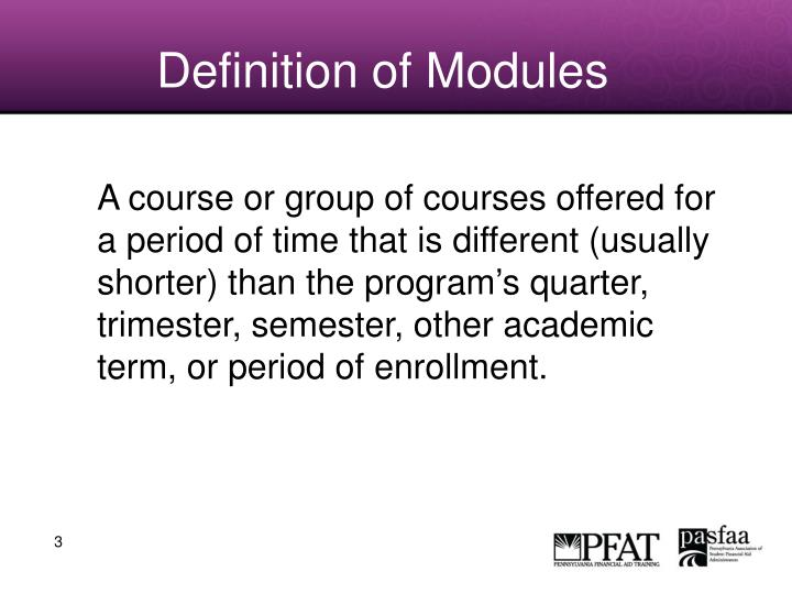 Definition of modules