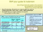 bnp pour guider le traitement1