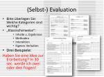 selbst evaluation