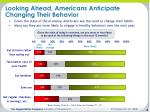 looking ahead americans anticipate changing their behavior