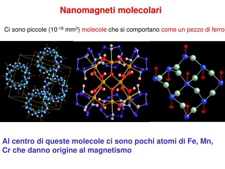 Nanomagneti molecolari