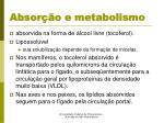 absor o e metabolismo1