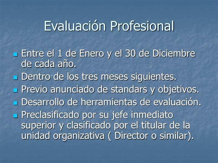 Evaluación Profesional