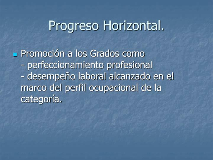 Progreso Horizontal.