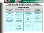 programa de tica integrado liderazgo