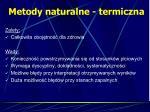 metody naturalne termiczna1