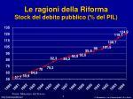 le ragioni della riforma stock del debito pubblico del pil