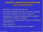 una p a performance oriented i nuovi controlli interni