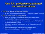 una p a performance oriented una rivoluzione culturale