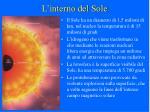 l interno del sole